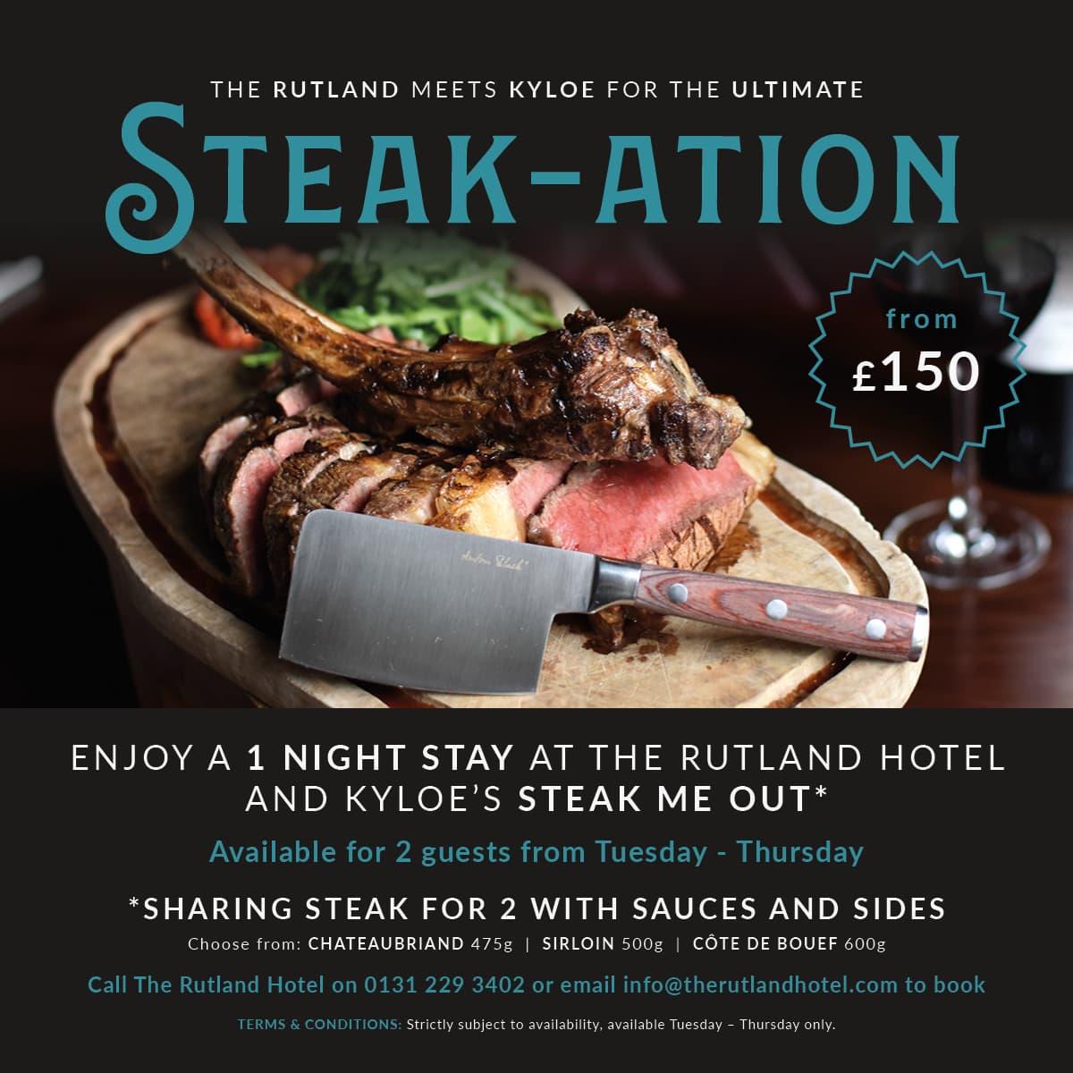 The Rutland Hotel Edinburgh Steak-ation Deal